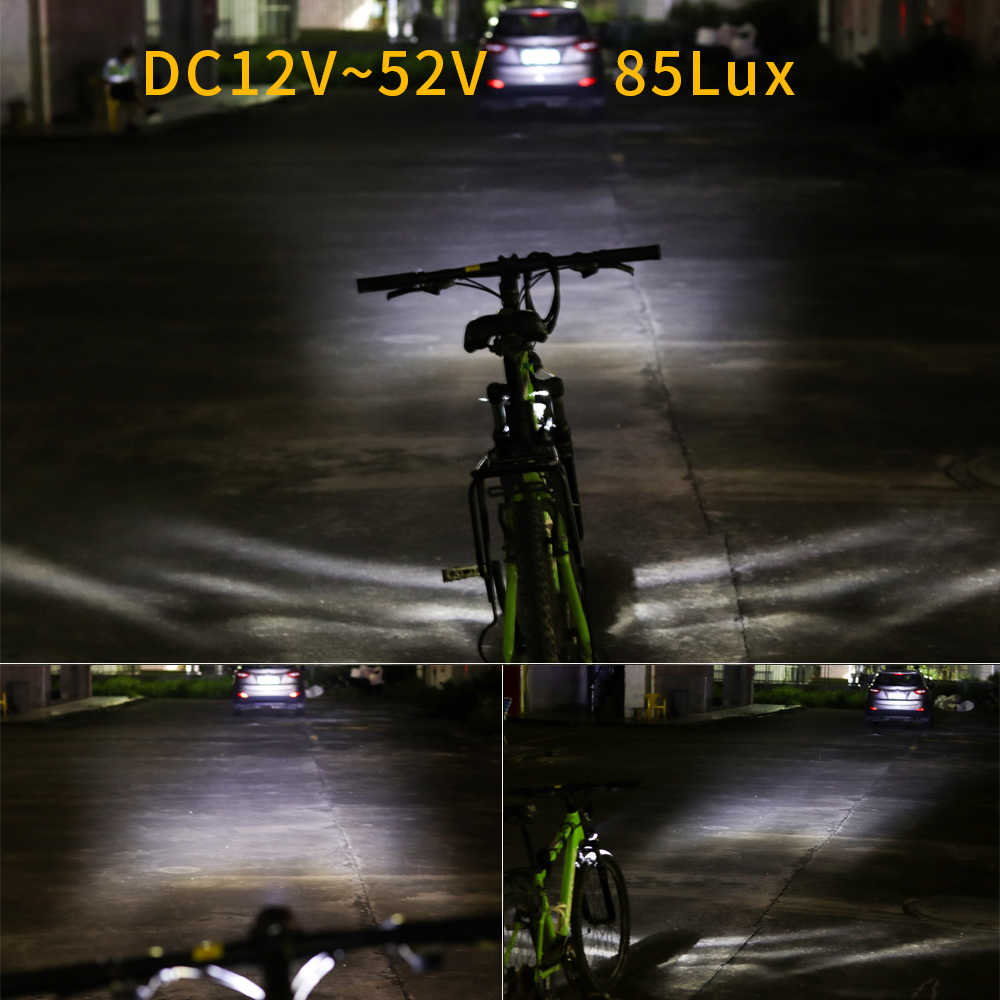 6V 12W IPX4 150LUX Electric Bicycle Waterproof Front LED Headlights eBike Light
