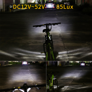 Image 4 - Ebike ضوء كهربائي إضاءة دراجة هوائية المدمج في مكبر الصوت المدخلات 12 فولت 24 فولت 36 فولت 48 فولت 56 فولت LED مصباح 85Lux سكوتر كهربائي المصابيح الأمامية أجزاء