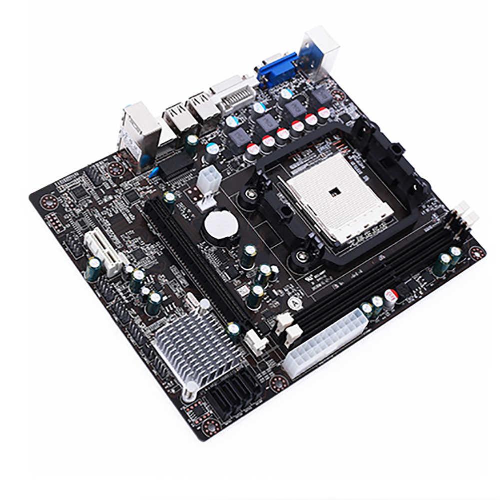 ブランド新 A55 マザーボードソケット FM1 DDR3 デュアルチャネルメモリ 16 グラム Pci-E コンピュータのメインボードの Amd の FM a8 A6 A4 E2
