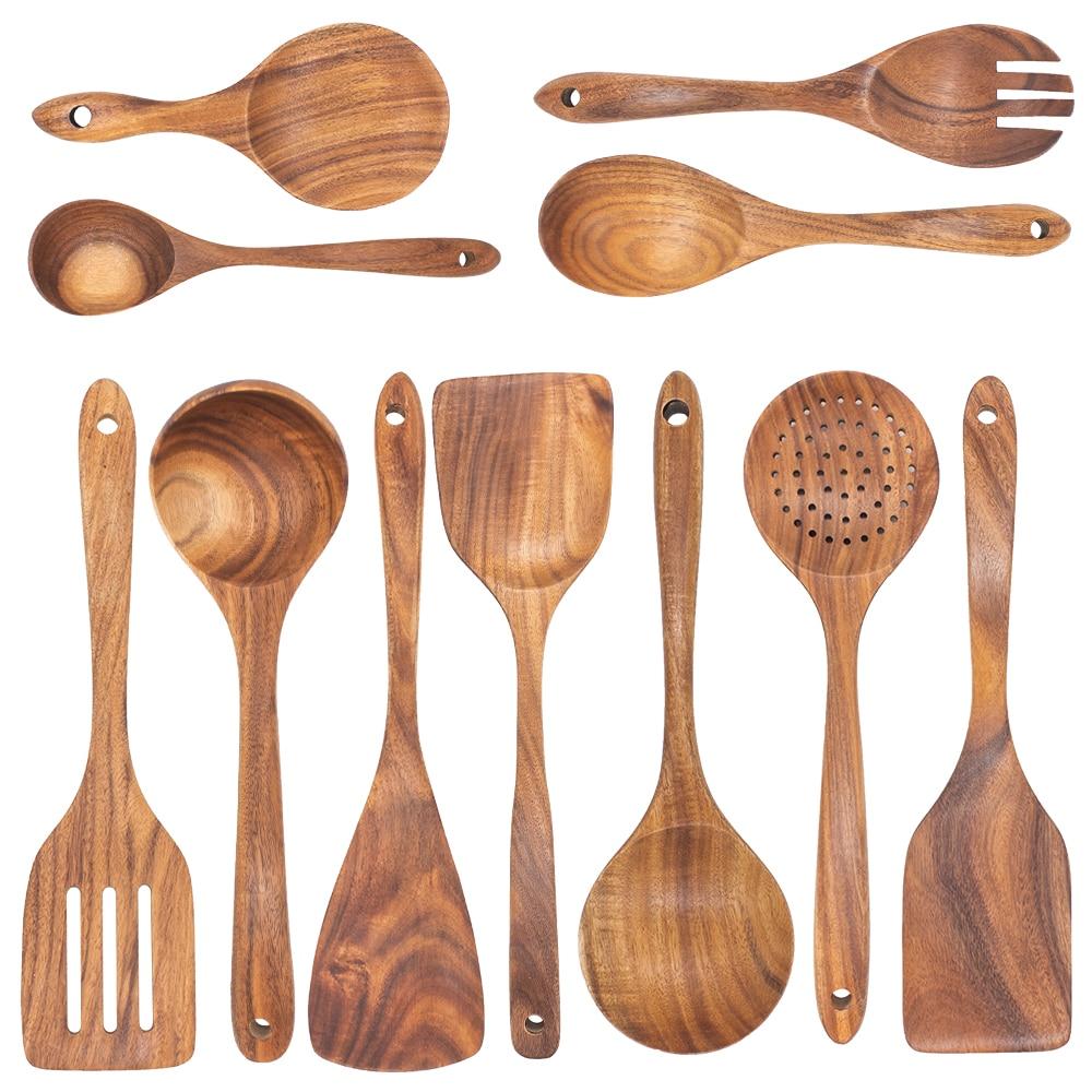Healthy Wooden Cooking Utensils Set