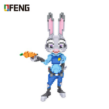 цена на LOZ Diamond Blocks Animals Figure Set Rabbit Judy Cartoon Building  Assembly Action Bricks Diy Educational Toys for Children