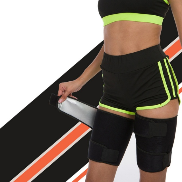 Leg Shaper Sauna Sweat Band Thigh Trimmers Calories Off Anti Slimming Cellulite Weight Loss Legs Fat Compress Belt Sportswear 1