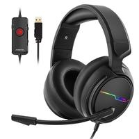 USB 7.1 Surround Sound Gaming Headset for PC Gamer Headphones Bass casque Game Headset for PS4/New Xbox One/Mac With Mic