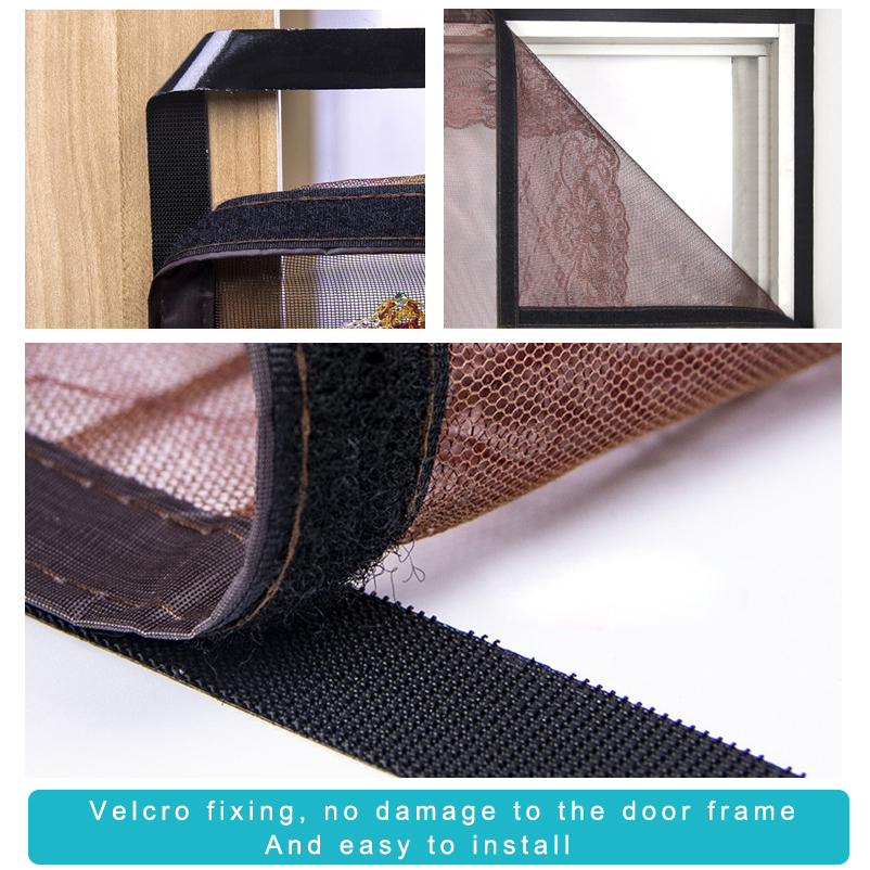 Anti Mouche Rideau de Porte Hot Summer Anti Mosquito Insect Fly Fly Bug Rideaux Magnetic Net Mesh Automatic Closing Door Screen Kitchen Curtain 80 x 210cm Noir