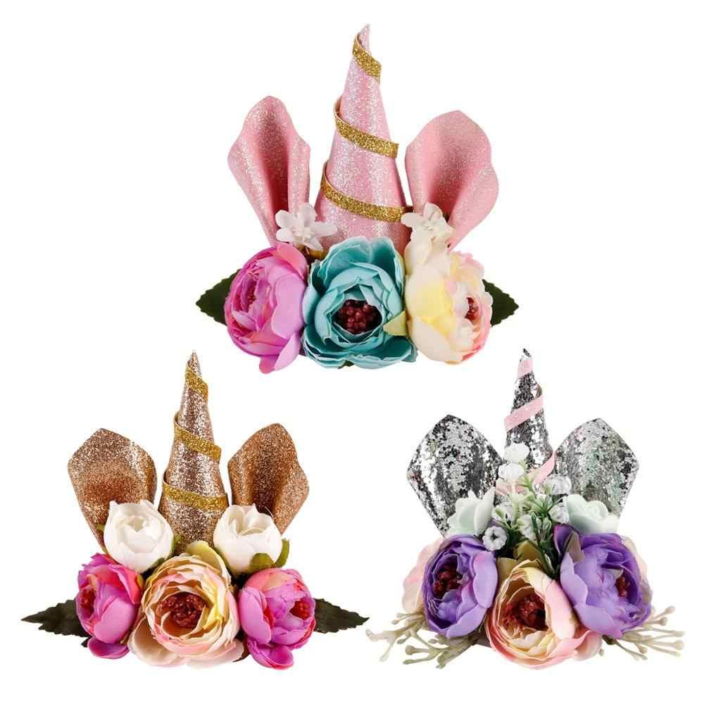 Torta de unicornio QIFU, decoración de torta de unicornio, suministros de decoración de torta de fiesta de cumpleaños de unicornio, decoración de torta de ducha de bebé