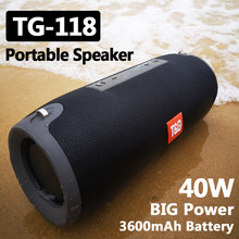 TG118 40W taşınabilir bluetooth'lu hoparlör açık kablosuz sütun Subwoofer müzik merkezi BoomBox 3D Stereo 3600mAh pil FM/TF/AUX