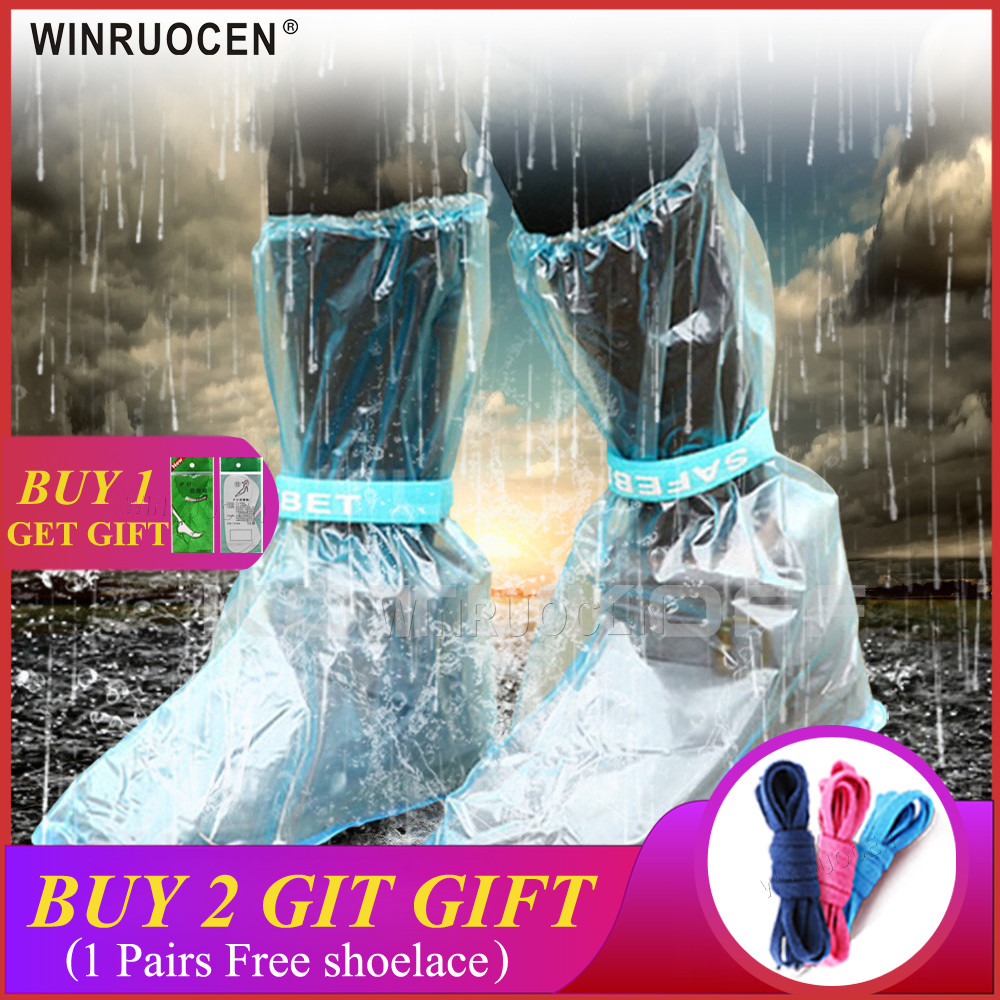 Long and Waterproof Shoe Cover for Men and Women Reusable for Shoes with Anti Slip and Anti Grinding Property 3