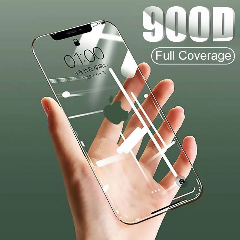900D Curved Full Cover Tempered <font><b>Glass</b></font> on the For <font><b>iPhone</b></font> X XS Max XR <font><b>Screen</b></font> <font><b>Protector</b></font> <font><b>Glass</b></font> For <font><b>iPhone</b></font> <font><b>7</b></font> 8 6 6s Plus 11 Pro Film image