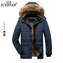 UAICESTAR Brand Fur Collar Winter Jacket Men Fashion Casual Warm Men Parka Coat Large Size Clothing Windproof Hooded Men Jackets