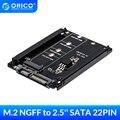 Твердотельный накопитель ORICO M.2 NGFF (SATA) SSD на 2,5 SATA адаптер для 2230/2242/2260 мм M2 NGFF SSD твердотельный жесткий диск M2 NGFF в SATA 22PIN