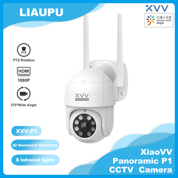 Xiaomi Xiaovv P1 Outdoor Camera 1080P 270 PTZ Rotate Wifi Webcam Humanoid Detect Waterproof Security Camers Work For Mi Home App - discount item  25% OFF Video Surveillance
