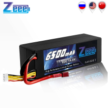 Zeee RC Lipo Battery 14.8V 4S 6500mAh RC Battery Lipo 80C RC Battery with Deans Plug For RC Car Boat Truck Airplane UAV RACING цена