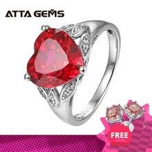 ทับทิมแหวนเงินสร้างทับทิมแหวนเงินสำหรับงานปาร์ตี้และวันเกิดโรแมนติกที่สวยงามสำหรับงานแต่งงานแหวน