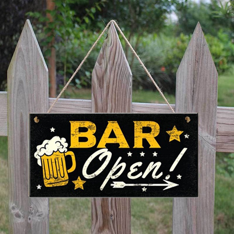 Vintage Fashion Cafe Bar Pub Wall Decor Simple Wooden Signs Home Decor Personalized Sign Craft Beer Garden Hanging Plaque(China)