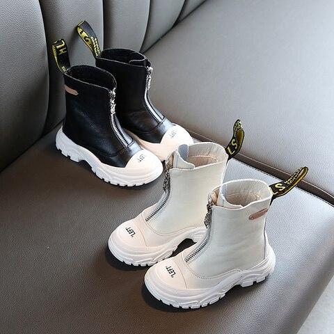sapatos infantis 2020 primavera novos meninos meninas couro genuino martin botas anti chute macio inferior