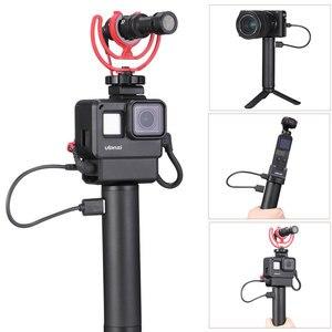 Image 5 - ハンドグリップバッテリー移動プロヒーロー 7 6 5 5200 5600mah バッテリー充電器パワー銀行グリップハンドヘルド一脚 Selfie スティックアクションカメラ用