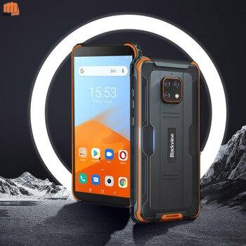 Перейти на Алиэкспресс и купить Blackview BV4900 5580 мА/ч, 5,7 дюймов телефон NFC Android 10 прочный Водонепроницаемый смартфон 3 ГБ + 32 ГБ IP68 мобильный телефон