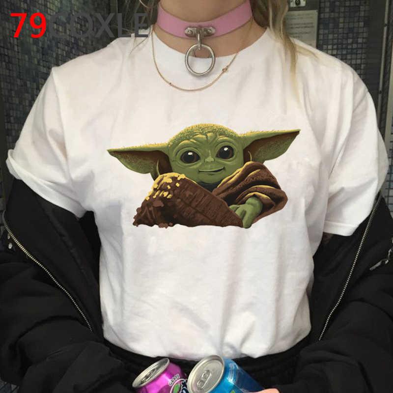 Star Wars Il Mandalorian Freddo Del Fumetto di T Degli Uomini Della Camicia Cute Baby Yoda Divertente Stampa T-Shirt Hip Hop 90s Tshirt parte Superiore di modo di Magliette Maschio