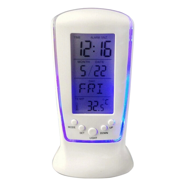 Gifts Alarm Clock Digital Calendar Battery Powered Music Player Thermometer Birthday Remind Countdown LCD Screen Snooze Bedside tanie i dobre opinie HOUSEEN Plac Kalendarze Luminova Cyfrowy Z tworzywa sztucznego Nowoczesne Funkcja drzemki Other