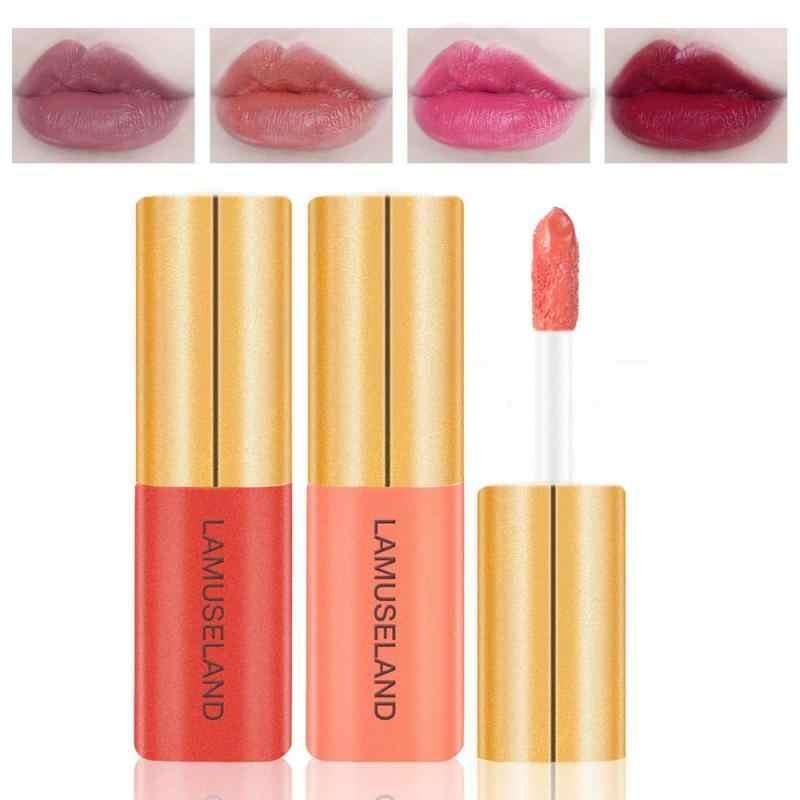 LAMUSELAND 12 farben Langlebig Wasserdicht Matt Lipstic Glasur Sexy Rot Feuchtigkeits Wasserdicht Lang Anhaltende Lip Gloss TSLM1