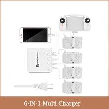 6 IN 1 Multi Caricatore per Fimi X8SE 2020/Fimi X8 SE Drone Batteria Hub di Ricarica Intelligente caricabatteria con Porta USBCaricabatterie per droni