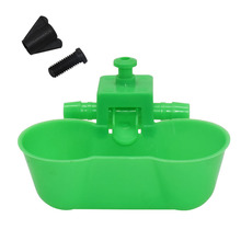 5 sets Green Quail drinking Waterer Dual cups Bird Siamese water bowl Birds Feeding Tools The new water bowls Pigeon supplies