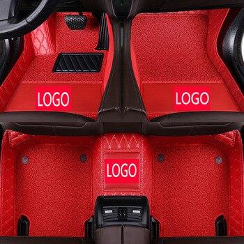 CARFUNNY Custom fit car logo car floor mats for KIAK2 K3 K3S K4 K5 K7 KX3 KX5 KX7 VQ  car styling accessories carpet liners