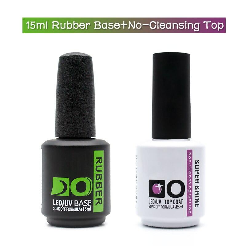 15ml Latest Base and Top for Nails Rubber Nail Base Coat Gel Nail Polish Semi-permanent uv Varnish Hybrid Manicure Primer Gellak