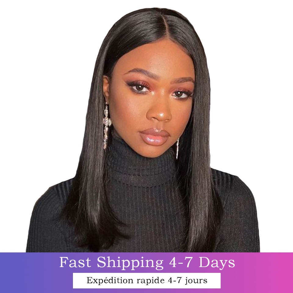 Straight Wave Lace Wig Closure 100%  Wigs for Women 8-30 Inches 4x4 Transparent peruque Cheap human 13X4 Closure Wig 2