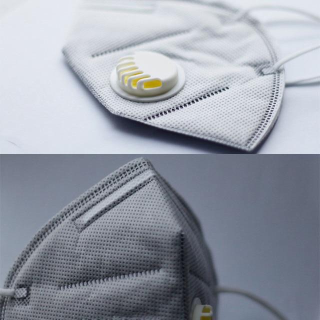 2PCS/Set N95 PM2.5 Respirator Face Mask Anti Flu Prevention Dust Pm 2.5 Filter Breathing Valve Mouth Masks 4