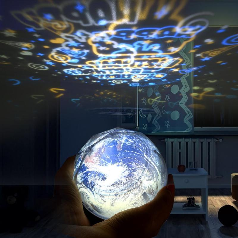 Starry Sky Night Light Planet Earth Projector LED Lamp Universe Colorful Rotate Flashing Star LED Night Light Kids Bedroom Decor