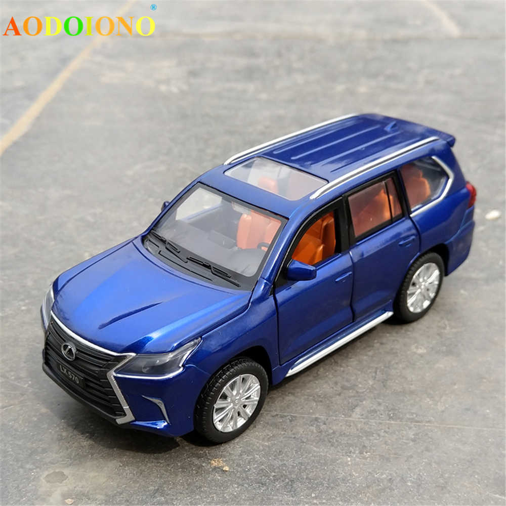 1 32 Scale Lexus Lx570 Alloy Pull Back Car Model Diecast Metal Toy Vehicles With Sound Light 6 Open Doors For Kids Children Gift Diecasts Toy Vehicles Aliexpress