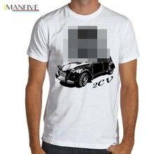 2019 Summer Fashion Men Tee Shirt Classic France Car  2CV Soft T-Shirt Multiple Colors & Sizes