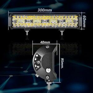 Image 5 - Aeobey 12 אינץ 240W 80led מכביש Led אור בר מעוקל LED נהיגה אורות 4x4 Offroad משאית SUV טרקטורונים טרקטור סירת 12v 24v