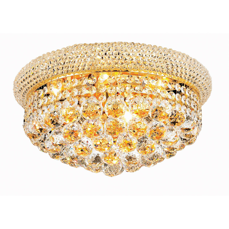 Image 3 - Phube Lighting Empire Gold Crystal Ceiling Light Luxury K9 Crystal Ceiling Lamp Lighting Lustre Free Shipping-in Ceiling Lights from Lights & Lighting