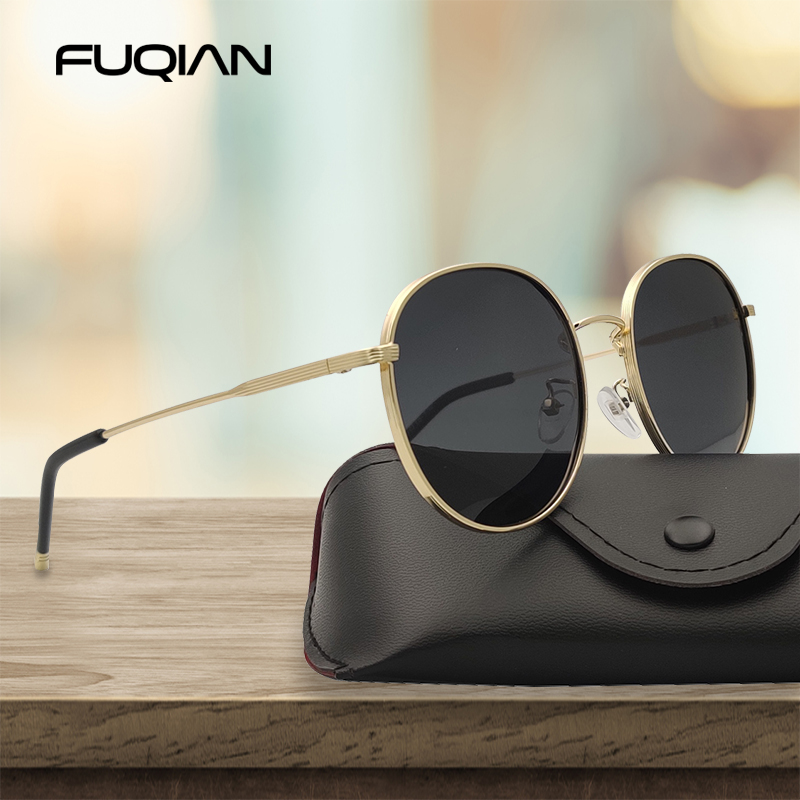 FUQIAN 2020 Oversized Round Polarized Sunglasses Women Fashion Big Sun Glasses Men Vintage Male Glasses For Driving UV400