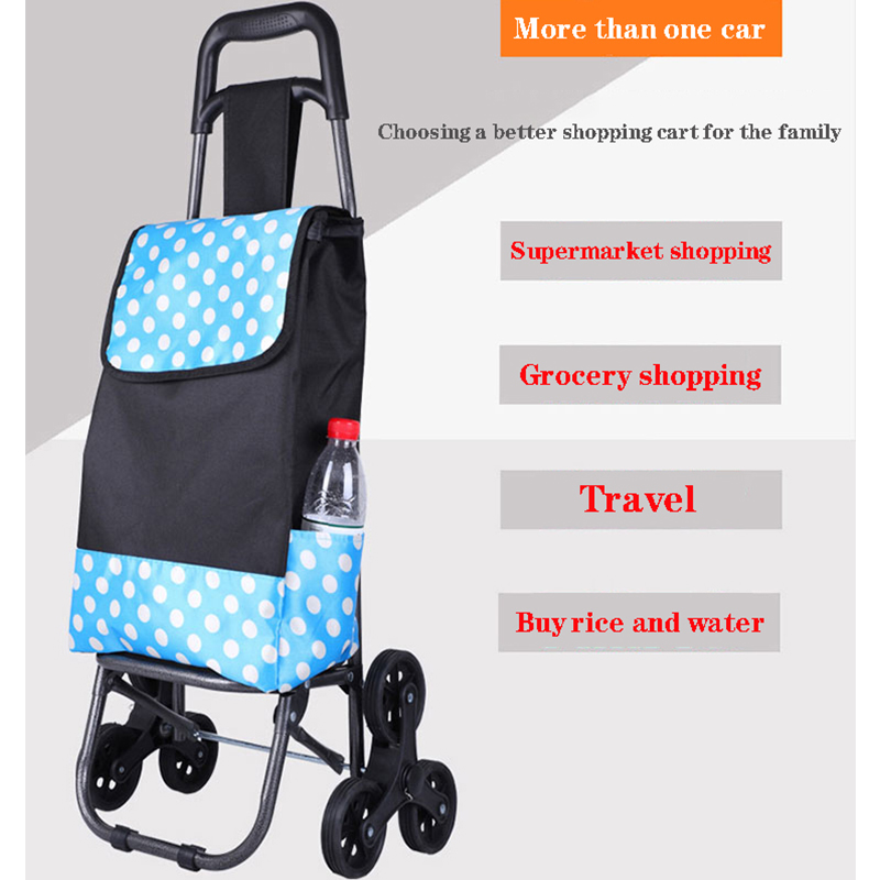 Brand new upgrade home elderly women folding trolley climbing stairs to buy food shopping cart trolley luggage cart trolley