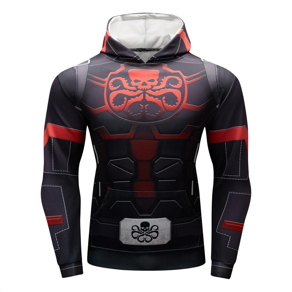Spiderman Captain America Superhero Avengers Hoodie Deadpool Spiderman Venom Casual Sweatshirt Hoodie Jacket