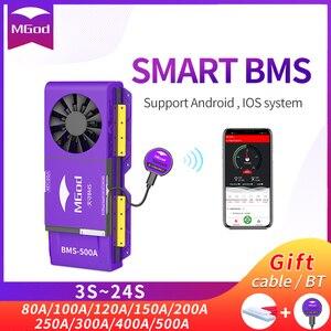 Image 1 - LiFePo4 4S inteligente BMS 3S 24S, batería de litio para exteriores, emergencia, hogar, con ventilador, Bluetooth, balance PCBA, 8S, 16S