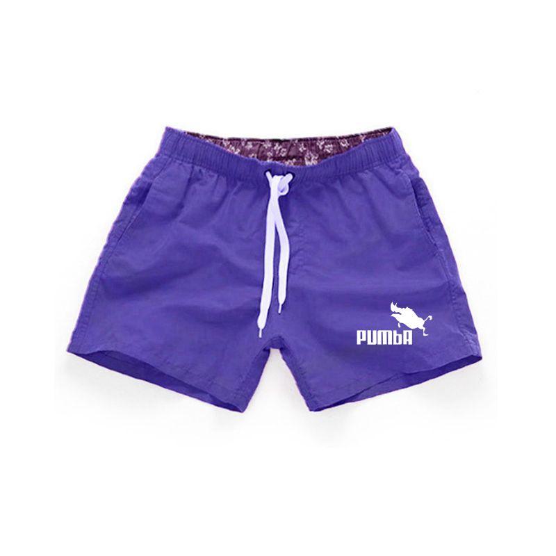 Мужские шорты s Bermuda 2018, летние пляжные мужские шорты с буквенным принтом Pumba, мужские Брендовые повседневные шорты для фитнеса, бега размера