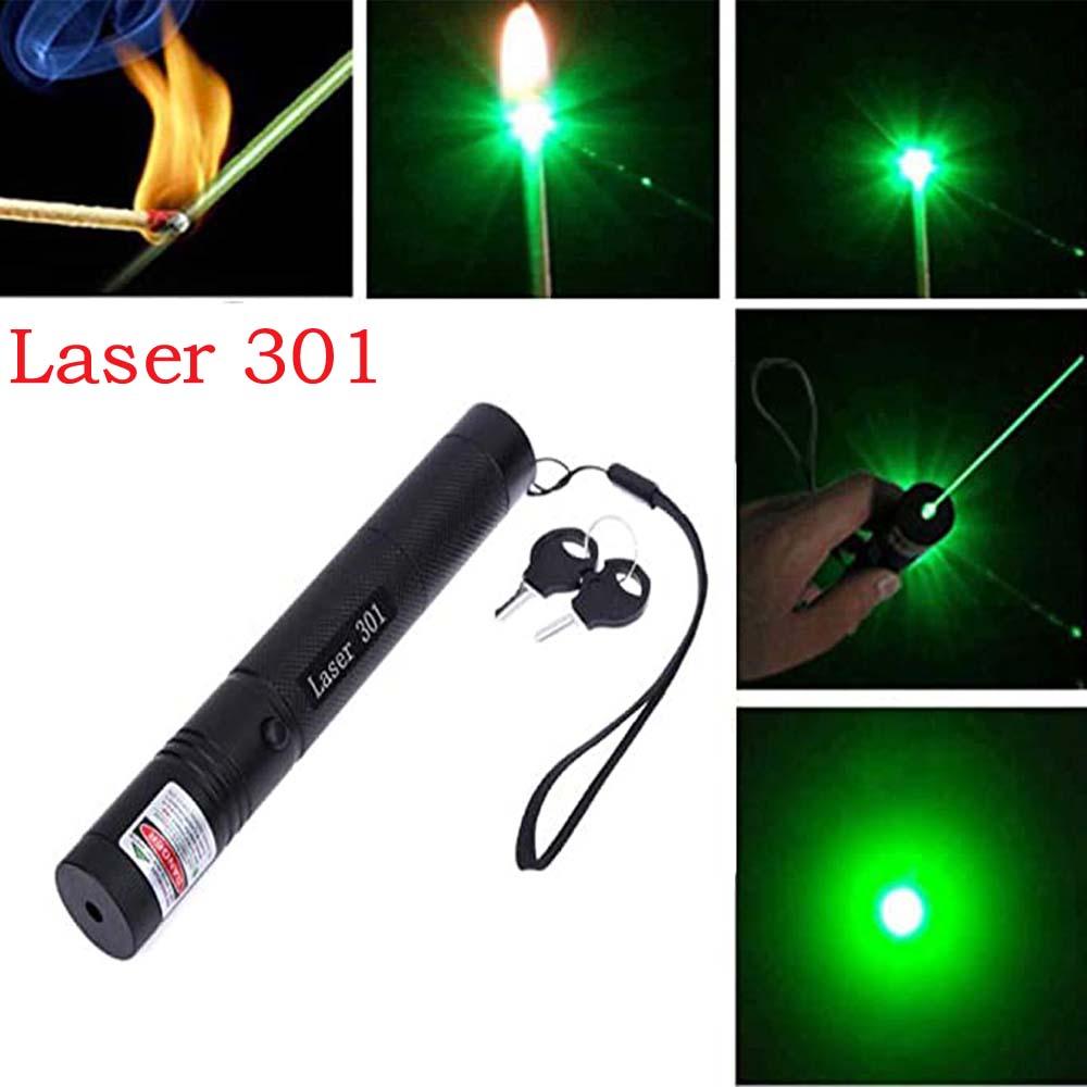 Лазерная указка 5 мВт, высокая мощность, зеленая точка, лазер 301, светильник, ручка, мощный лазер, 532 нм, зеленая лазерная ручка, новинка