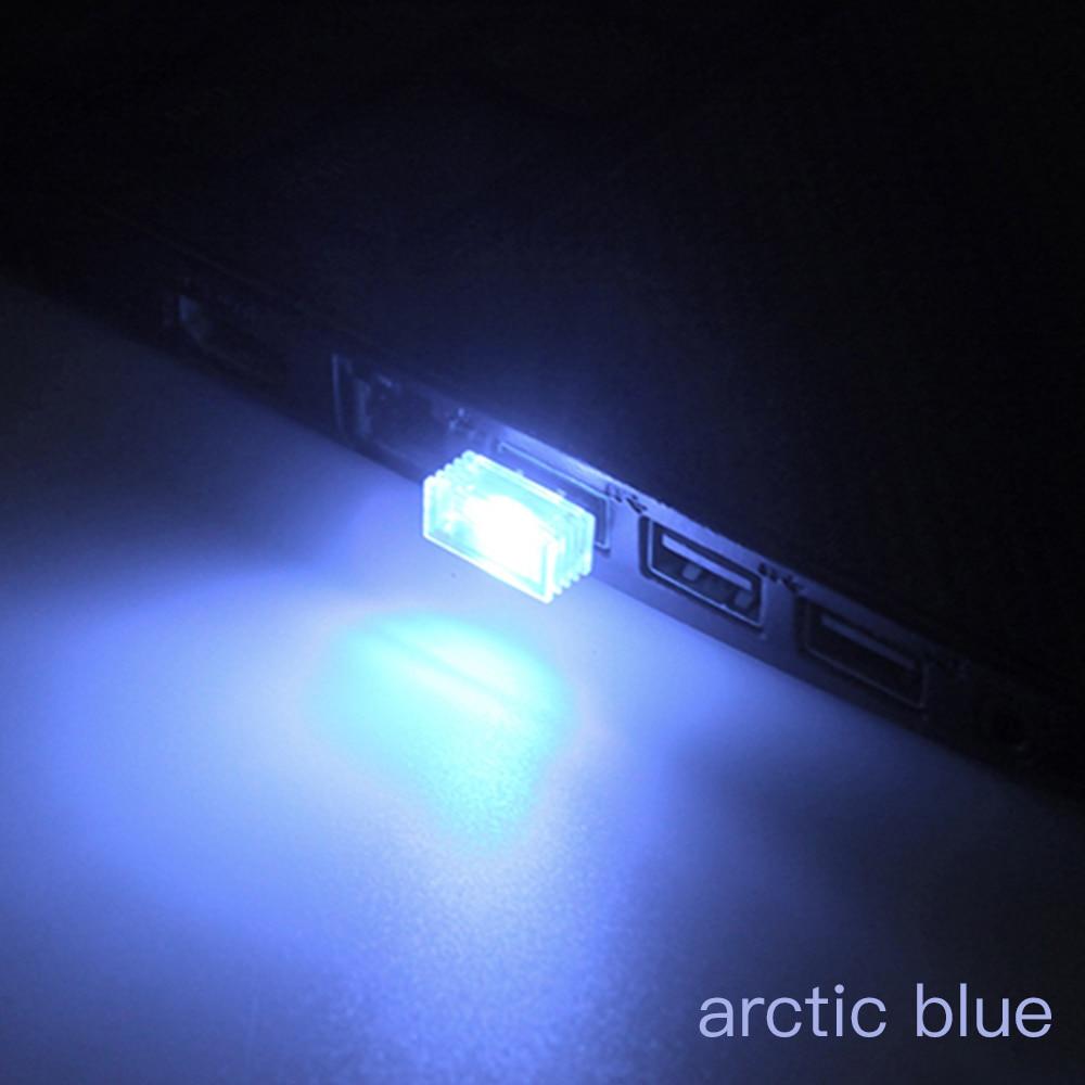 2Pcs Flexible mini usb led light colorful lamp for car atmosphere lamp bright