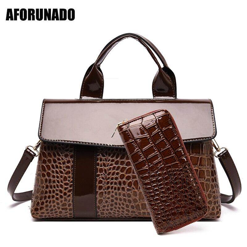 Luxury Handbags Women Bags Designer Ladies Elegant Alligator PU Leather Crossbody Tote Bags For Women 2019 High-end Shoulder Bag