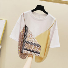 Pure Cotton Short Sleeve T-shirt Women 2020 Summer Wear Loose-Fit Tshirt Students Mixed Colors T-shirt Tees Ladies Tops(China)