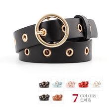 2019 nuevo estilo Cinturón fino estilo coreano versátil cinturón de cuero con hebilla redonda para mujer jeans decorativos informales para mujer cinturón
