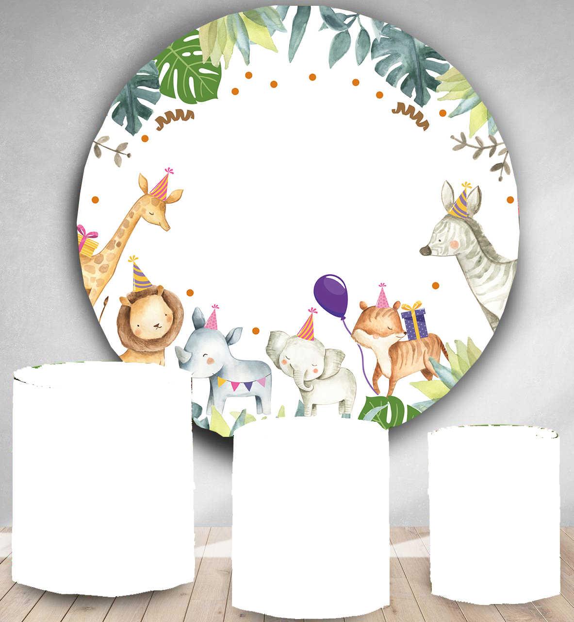Daire fotoğraf backdrop altın glitter flaş doğum günü partisi afiş yuvarlak fotoğraf kabini arka plan tatlı kek masa vinil