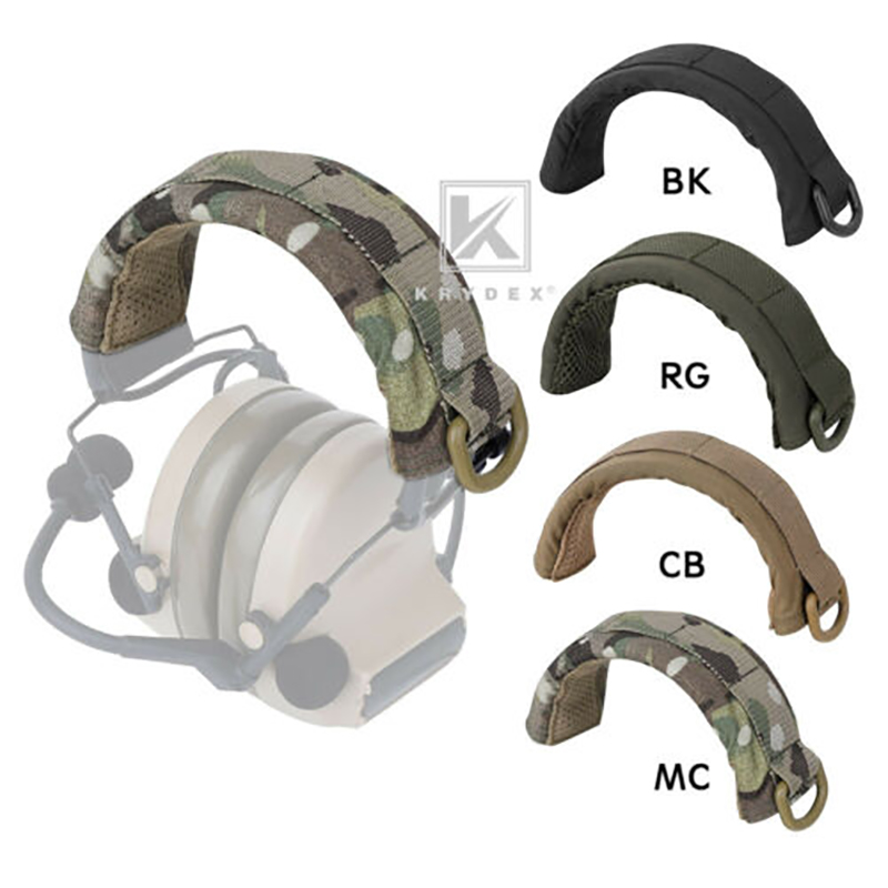KRYDEX Modular Headphone Stand Protection Cover Tactical Headband Earmuff Headset Stand MOLLE Protection Case For HOWARD PELTOR