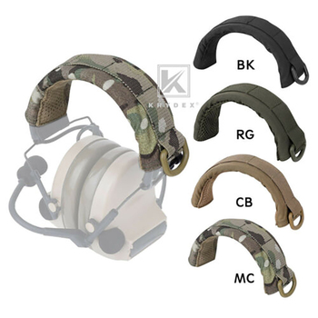 KRYDEX modułowy stojak na słuchawki pokrywa ochronna taktyczny pałąk nauszniki stojak na słuchawki MOLLE pokrowiec ochronny na HOWARD PELTOR tanie i dobre opinie Akcesoria Modular Headphone Protection Cover MOLLE Headset Protection Case D-Ring Fits HOWARD PELTOR MSA COM-TAC II 3Meter Military Headsets