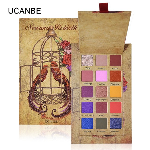 UCANBE Cageling 15 Colors Shimmer Matte Eyeshadow Pallete Glitter Powder Eye Shadow Makeup Creamy Pigmented Waterproof Cosmetics 1