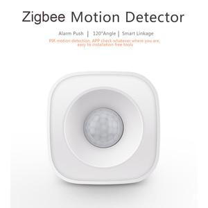 Image 3 - Tuya IFTTT Batterie Powered Smart ZigBee PIR Motion Sensor Detektor Home Alarm System arbeitet mit Mini ZigBee Hub